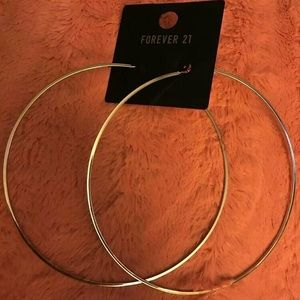 Oversized hoops ( silver )